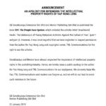道歉聲明 AN APOLOGY FOR INFRINGING THE INTELLECTUAL PROPERTY RIGHTS OF YAP HONG LENG